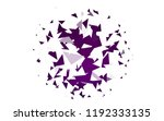light purple vector geometric... | Shutterstock .eps vector #1192333135