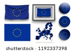 set of european union flags... | Shutterstock .eps vector #1192337398