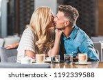 affectionate romantic couple... | Shutterstock . vector #1192339588