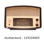 old vintage radio isolated on... | Shutterstock . vector #119234005