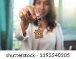 home sales agents are giving...   Shutterstock . vector #1192340305