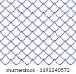 ceramic thai pattern benjarong... | Shutterstock .eps vector #1192340572