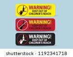 warning keep out of children s... | Shutterstock .eps vector #1192341718