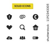 ui icons set with security ...