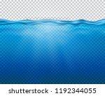 vector blue underwater view... | Shutterstock .eps vector #1192344055