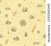 vector abstract seamless... | Shutterstock .eps vector #1192345345