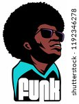 man with the afro hair and...   Shutterstock .eps vector #1192346278