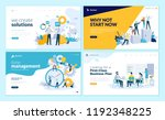 set of creative website...