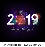 happy new year illustration... | Shutterstock .eps vector #1192348408