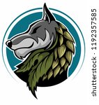 gray wolf  wolf head isolated... | Shutterstock .eps vector #1192357585