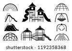 kid playground equipment icons. ... | Shutterstock .eps vector #1192358368