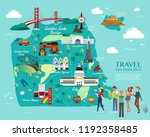 map of san francisco... | Shutterstock .eps vector #1192358485