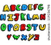cartoon alphabet | Shutterstock .eps vector #119236798