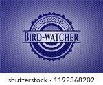 bird watcher emblem with jean... | Shutterstock .eps vector #1192368202