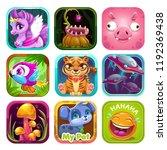 app icon logo template set.... | Shutterstock .eps vector #1192369438