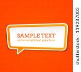 speech bubble at seamless... | Shutterstock .eps vector #119237002
