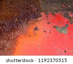 abstract old rusty metal... | Shutterstock . vector #1192370515