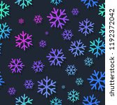 snowflakes seamless pattern.... | Shutterstock .eps vector #1192372042