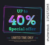 up to 40  percent sale... | Shutterstock .eps vector #1192372045