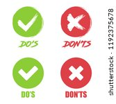 set of do and dont check tick...   Shutterstock .eps vector #1192375678
