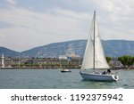 sailboat in the lake   Shutterstock . vector #1192375942