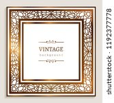 square vector frame with gold...   Shutterstock .eps vector #1192377778