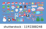big christmas party props for... | Shutterstock .eps vector #1192388248