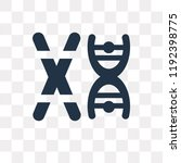 chromosome vector icon isolated ... | Shutterstock .eps vector #1192398775