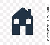 hut vector icon isolated on... | Shutterstock .eps vector #1192398838