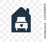 shelter beds vector icon... | Shutterstock .eps vector #1192398925