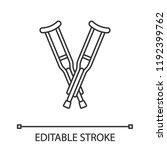 axillary crutches linear icon.... | Shutterstock .eps vector #1192399762