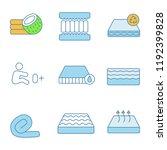 mattress color icons set.... | Shutterstock .eps vector #1192399828