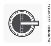 sewage clarifier or settling... | Shutterstock .eps vector #1192404652