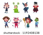kids halloween costumes.... | Shutterstock .eps vector #1192408138