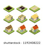 house construction. building... | Shutterstock .eps vector #1192408222