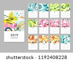 calendar 2019. seasons collage  ... | Shutterstock .eps vector #1192408228