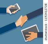 concept of modern communication ... | Shutterstock .eps vector #1192412728