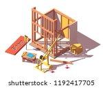 vector isometric new shop or... | Shutterstock .eps vector #1192417705