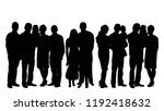 silhouette of people | Shutterstock .eps vector #1192418632