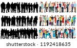 crowd of people  isometric... | Shutterstock .eps vector #1192418635