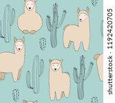 hand drawn vector seamless... | Shutterstock .eps vector #1192420705