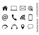 collection of communication... | Shutterstock .eps vector #1192423555