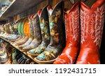 Wall Of Cowboy Boots In Santa...