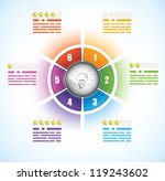 business diagram template with... | Shutterstock .eps vector #119243602