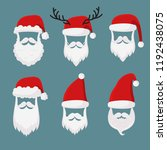 vector santa claus without face ... | Shutterstock .eps vector #1192438075