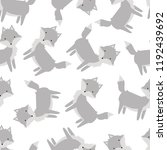 seamless pattern with cute gray ... | Shutterstock .eps vector #1192439692