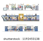 subway interior with train and... | Shutterstock .eps vector #1192453138