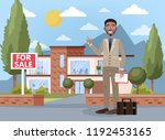 real estate agent or broker... | Shutterstock .eps vector #1192453165