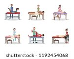 doctor making massage to the...   Shutterstock .eps vector #1192454068