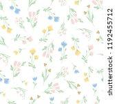 wild flowers seamless pattern... | Shutterstock .eps vector #1192455712